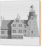 Block Island South East Rhode Island Wood Print