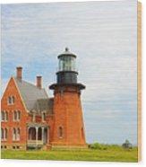Block Island Southeast Lighthouse Artwork Wood Print