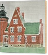 Block Island Southeast Lighthouse Wood Print