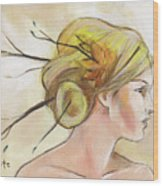 Blonde Autumn Right Wood Print by Jacque Hudson