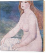 Blonde Bather II Wood Print