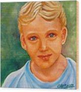 Blonde Boy Wood Print