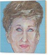 Blonde Comedian W Mullet - Do Wood Print