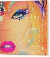 Blonde De Vogue Wood Print