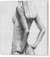 Blonde Nude2 Wood Print