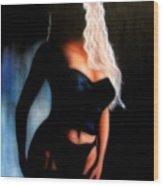 Blonde Woman Wood Print