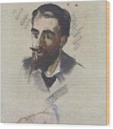 Blonde Young Man Beard Wood Print