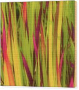 Blood Grass Wood Print