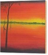 Blood Orange Sunset Wood Print