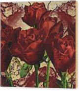 Blood Red Lust Wood Print