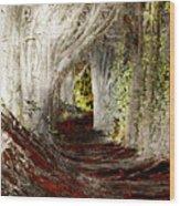 Blood Redwoods Wood Print