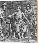 Blood Transfusion From Dog To Man, 1692 Wood Print