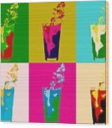 Bloody Mary Pop Art Panels Wood Print