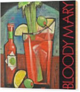 Bloody Mary Poster Wood Print