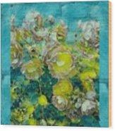 Bloom In Vintage Ornate Style Wood Print