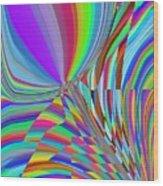 Bloomin Colorful Wood Print