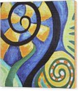 Blooming Aka Chris' Snail Wood Print