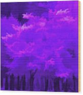 Blooming Amethyst Wood Print