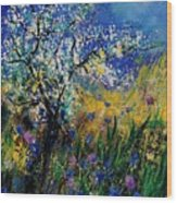 Blooming appletree Wood Print