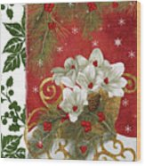 Blooming Christmas II Wood Print
