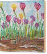 Blooming Colors Wood Print
