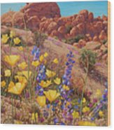 Blooming Desert Wood Print