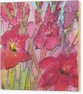 Blooming Glads Wood Print