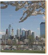 Blooming Philadelphia  Wood Print