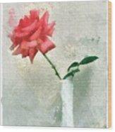 Blooming Rose Wood Print