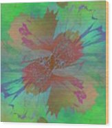 Blooms In The Mist Wood Print