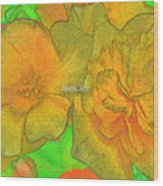 Blooms Yellow Wood Print