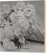 Blossom And The Bee Cornucopia  Wood Print