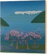 Blossom In The Hardanger Fjord Wood Print