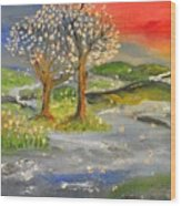 Blossom Trees Wood Print