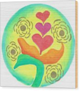 Blossoming From Within Wood Print