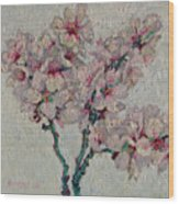 Blossoming Peaches Branch Wood Print