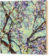 Blossoms Up Wood Print