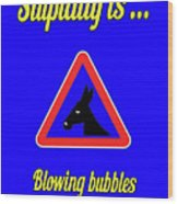 Blowing Bigstock Donkey 171252860 Wood Print