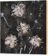 Blowing Dandelions Wood Print