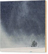 Blowing Snow Wood Print