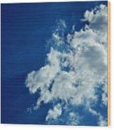 Blu  Wood Print