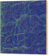 blu Wood Print by Eileen Shahbazian