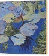 Blu I Wood Print