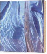Blue 100 Wood Print