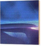 Blue 107 Wood Print