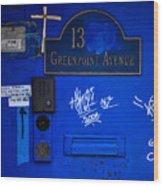 Blue 13 Wood Print