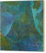 Blue .9. Wood Print