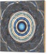 Blue Abalone Sphere Wood Print