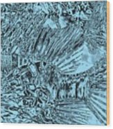 Blue Abstract - Lionfish Wood Print