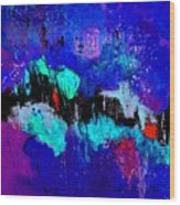 Blue Abstract 55698 Wood Print